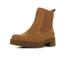 Bottines Timberland femme Courmayeur Valley Chelsea taille Marron Cuir
