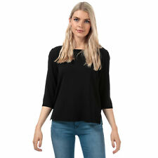 Womens Only Vic 3 Quarter Sleeve Top In Black