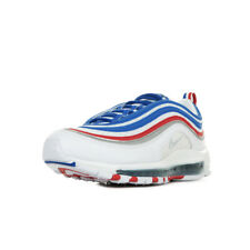 """Chaussures Baskets Nike homme Air Max 97 """"Game Royal"""" taille Blanc Blanche Cuir"""