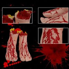 Latex Hand Arm Fingers Bloody Halloween Props Fake Severed Party Decoration