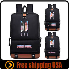 Kpop BTS Canvas SchoolBag Laptop Bangtan boys Backpack for V Jimin Jung Kook Jin