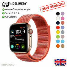 Replacement Woven Nylon Strap for Apple Watch Series 1 2 3 4 38mm to 42mm