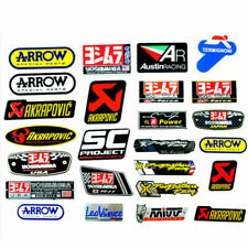 Universal Motorcycle Exhaust Pipe 3D Aluminum Metal Heat Resistant Sticker Decal