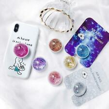 Quicksand Glitter Liquid Expanding Phones Holder Grip Stand For iPhone X XS MAX
