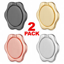 2-Pack Universal 360 Finger Ring Phone Holder Stand Car Magnetic Metal Plate USA
