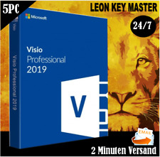 Visio 2016/2019 Professional ✔32&64 bits 1/2/3/4/5 PC 24/7 SUPPORT ✔per E-Mail
