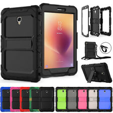 "For Samsung Galaxy Tab A 8"" 2017 T380 Shockproof Kickstand Case Cover With Strap"