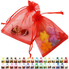 New 25/50 PCS Drawstring Organza Bags Jewellery Gift Pouch Wedding Party Favour