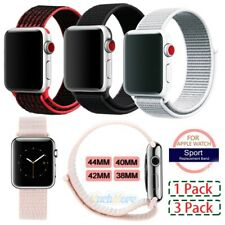3x Woven Nylon Band for Apple Watch Sport Loop iWatch Series 4/3/2 38/42/40/44mm