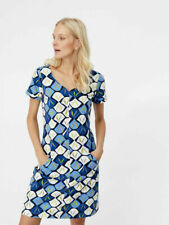 NEW WHITE STUFF SATO JERSEY DRESS SHIFT TUNIC BLUE NAVY IVORY 8-18 RRP £55