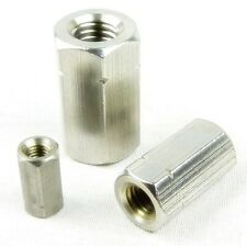 Boltstore UK Threaded Rod Bar Stud Connectors In A2 Stainless Steel DIN 6334