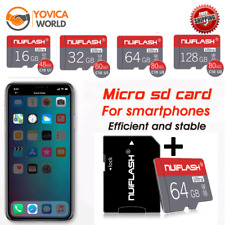 New Micro SD TF Flash Memory Card 128GB 64GB 32GB for Smartphone Tablet Class 10