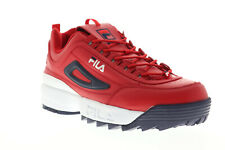 Fila Disruptor II Premium 1FM00139-616 Mens Red Casual Low Top Sneakers Shoes