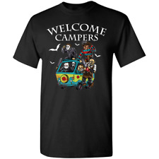 Welcome Campers Horror Character T-Shirt Tee Shirt Short Sleeve S-5XL