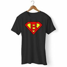 NEW SUPERMAN LOGO WITH B LETTER MANS  WOMANS TSHIRT USA SIZE EM1