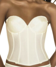 DOMINIQUE RACHEL BASQUE CORSET 38C 16 IVORY STRAPLESS LACE BRA WEDDING 7750 NEW