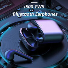 New i500 TWS Wireless Bluetooth Earbuds Touch Control In-Ear Detection Superbass