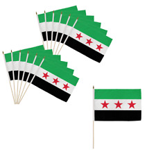 Syrian Republic 12x18in Stick Flag Lot of 12 Syrian Republic Syrian Independence