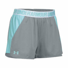 Under Armour Womens Play Up Shorts 2.0 Turquoise Pants Trousers Bottoms