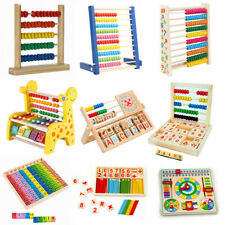 Math Numbers Wooden Counting Building Block Abacus Educational Learning Toy Gift