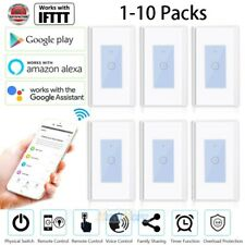 10x 15A Smart WIFI Light Switch Remote For Alexa Google Home IFTTT Voice Control