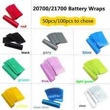 50/100pcs 20700/21700 Battery Wrap PVC Heat Shrink Sticker Protective Skin Cover