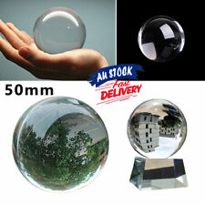 50mm Crystal Ball Home Decoration Sphere Props Clear Glass  for Photography