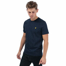 Mens Lyle And Scott Print T-Shirt In Navy- Crew Neck