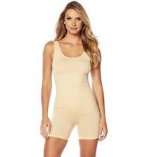 Yummie Light Nude Seamless Shaping Shapewear Reversible Tank Top Compression NEW