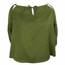 SUPERDRY ARIZONA PEEK A BOO WOMENS KHAKI TOP