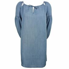 SUPERDRY ARIZONA PEEK A BOO WOMENS INDIGO LIGHT DRESS