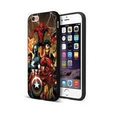 Case for iPhone 6s 7 8 XR XS Max Plus Shockproof Marvel Avengers Iron man Cover