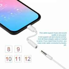 For iPhone 7 8 Plus X Xr 11 Lightning to 3.5mm Jack Headphone Aux Adapter Audio