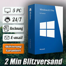 Windows 8.1 Professional ➽Win 8.1 Pro➽5PC➽32/64 Bit ➽Versand per E-mail