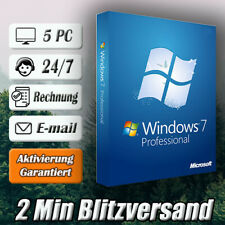 Windows 7 Professional ➽Win 7 Pro➽5PC➽32/64 Bit ➽Versand per E-mail