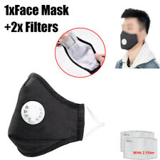 Washable Reusable Anti Pollution Face Cover Breathing With 2/6/10* PM 2.5 Filter