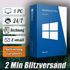 Windows 8.1 Professional ➽Win 8.1 Pro➽1PC➽32/64 Bit ➽Versand per E-mail