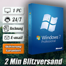 Windows 7 Professional ➽Win 7 Pro➽1PC➽32/64 Bit ➽Versand per E-mail