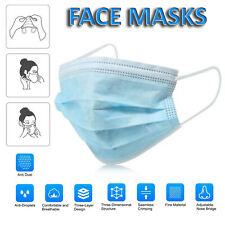 10/20/30/50 x Face Mask Face Mouth Masks Respirator Air Pollution Protection UK