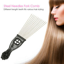 Teeth Afro Hair Pick Comb Hair Fork Brush Salon Styling Tool Wide Tooth Comb