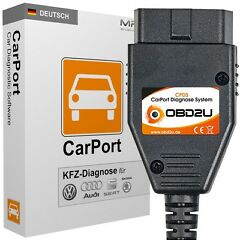 CPDS DIAGNOSE-GER�T  + CARPORT SOFTWARE F�R VW AUDI SEAT SKODA  /  OBD2 CAN-BUS UDS