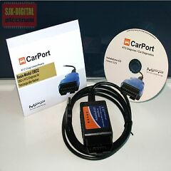 # UNIVERSAL DIAGNOSE INTERFACE OBD2 KFZ DIAGNOSE GER�T  + CARPORT LIZENZ SOFTWARE #