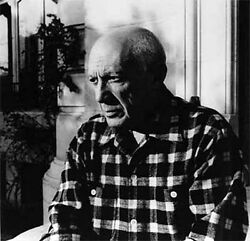 1955 Lucien Clergue Signed Black And White Photograph Of Pablo Picasso