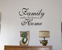 WALL DECALS Family .. Home lettering wall stickers