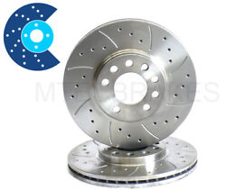 For Nissan 300zx Z32 Tt Rear 297mm Drilled Grooved Brake Discs