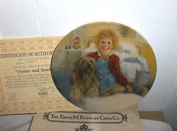 Annie And Sandy`1982-1st Issue In Annie Collectors Plate-free To Us