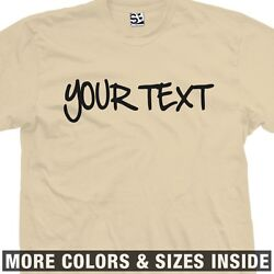 Custom Sharpie T-shirt - Personalized Handwritten Tee Shirt - All Sizes And Colors