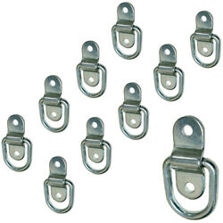 Stainless Steel D-ring Tiedown Anchors 3500 Lb. Capacity Tie Downs 10-pack