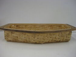 Longaberger Collectors Club Cc Heartwood Serving Tray Basket New Retired