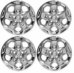 New 2010 2011 2012 Ford Fusion 17 Chrome Bolt-on Hubcap Wheelcover Set Of 4